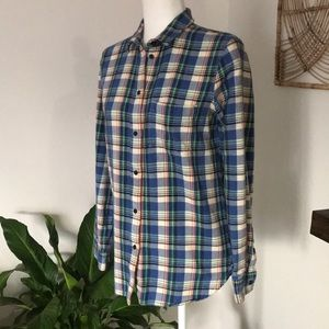 Madewell thick plaid button up long sleeve flannel